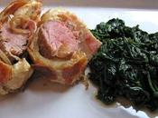Filet mignon croûte, épinards viande