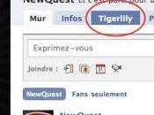 TigerLily Pour créer propre page Facebook...