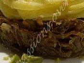 Effilochée confit canard feuilles navet boule d'or
