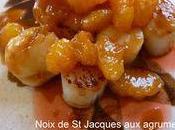 Noix Saint Jacques agrumes