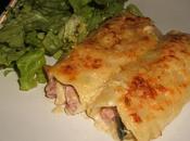 Cannelloni courgettes, jambon béchamel