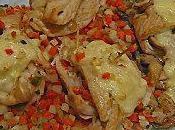 Roulés dindonneau petits légumes fromage