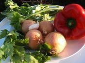 Filet poulet poivrons celeri branche