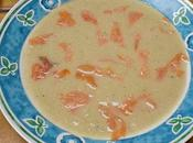 Potage chicons fromage saumon fume