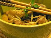 crevettes nouilles