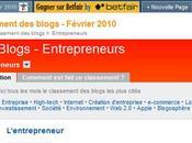 Lentrepreneur 41ème classement Wikio Entrepreneurs