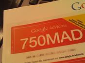 Google fait entrée marché marocain offre utilisateurs Adsense coupons Adwords 750MAD