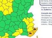 Vigilance Orange Météo-France pour Corse: bulletin 9h30