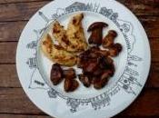 Poulet fricassée cèpes pour déjeuner chic pouce