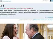 Marion Cotillard embrochée Frédéric Mitterrand