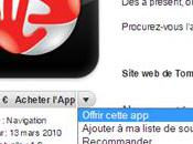 Offrez applications depuis l'apps store