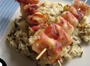 Brochettes pangasius citron risotto sauvage