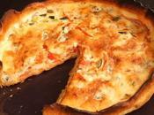 Quiche gorgonzola, courgettes tomates l'ail