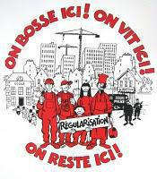 """WEB: bosse reste !""""/""""We work here! live stay here!"""""""