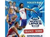 Volley-ball Ligue Mondiale France Serbie, samedi Grenoble (Palais Sports heures)