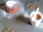 Fondant chocolat, sauce caramel