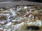Gratin courgette, mozzarella basilic