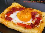 Tartelettes œuf, chorizo poivron