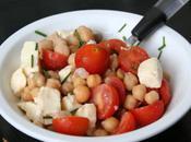 Salade tomate cerise, mozzarella pois chiche