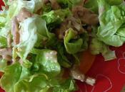 Petite salade avec lardons,son vinaigre balsamique..