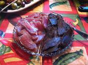 Poitrine d'oie filet porc séchés herbes Provence, cru, méthode torchon salée