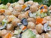 Salade pois chiches, vinaigrette l'aneth