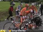Tour France 2010 Chute sans gravité pour Sanchez