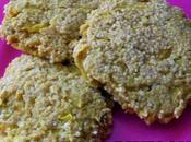 galettes quinoa germé,oignon, miel curry