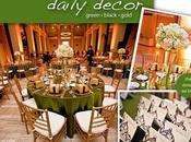 Décoration table verte noire style baroque