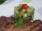 Filet porc mariné barbecue courgettes sautées