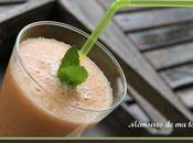 Smoothie melon-poire-canneberges