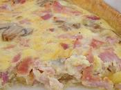 Quiche jambon, gorgonzola, oignon champignons
