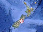 séisme magnitude frappe l'île Sud, Nouvelle-Zélande