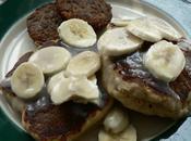 Pancakes Noix Macadamia Avec Bananes Sirop Coco