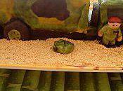 Gâteau camion militaire:le tutoriel (enfin)
