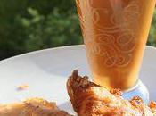 Feuilleté crevettes crème feta bisque homard