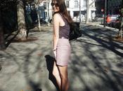 Purple mini-jupe