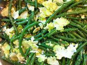 Haricots verts chou romanesco grillé