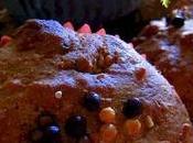 Muffins châtaignes, noisettes, choco