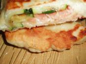 Naans saumon/courgettes