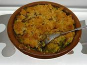 Mardi janvier 2011 Brocolis-maquereau crumble Côtes porc crème marrons Galette rois litchis