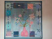 champêtre...peinture toile, acrylique collages, 1m/1m