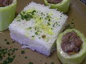 Courgettes farcies chair saucisse ,cuites vapeur