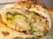 Roulé apéritif pâte levée rustique farines), courgette, jambon, mozzarella, parmesan, herbes