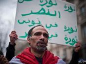 Manifestation soutien l'Egypte Tunisie. février, Paris.