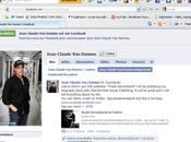 Jean-Claude Damme annonce publication livre Facebook