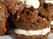 Deux versions pour muffins deux chocolats fourrés rhum-raisins café-amaretto