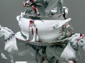 Trash porcelaine Laszlo Fekete