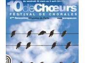 Festival Chœurs avec chorales amateurs mars avril