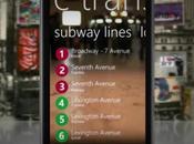plan métro Yorkais sublimé sous Windows Phone